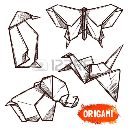 132,552 Origami Stock Vector Illustration And Royalty Free Origami.