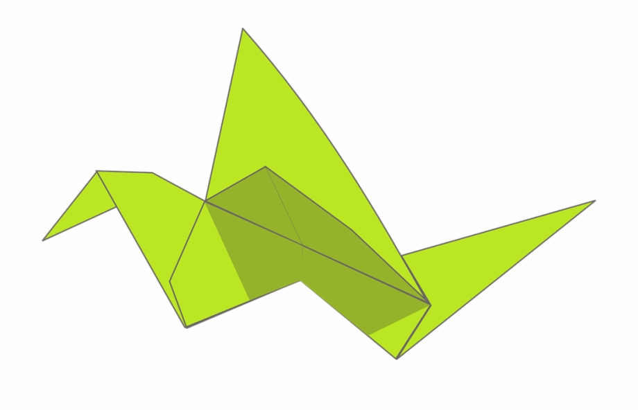 Origami Folding Paper Animal Bird Swan Flying.