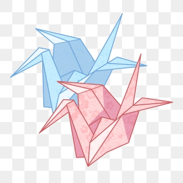 Origami Crane PNG Images.