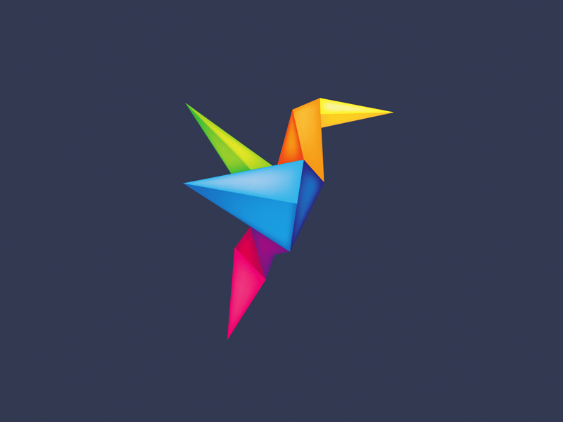 Origami Bird by Leo on Dribbble.