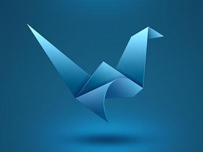 25+ Amazing Examples of Origami Inspired Logo Designs.
