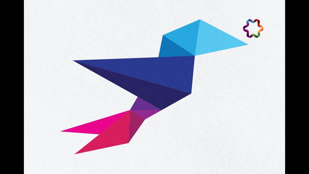 origami logo design tutorial in adobe illustrator for beginners.