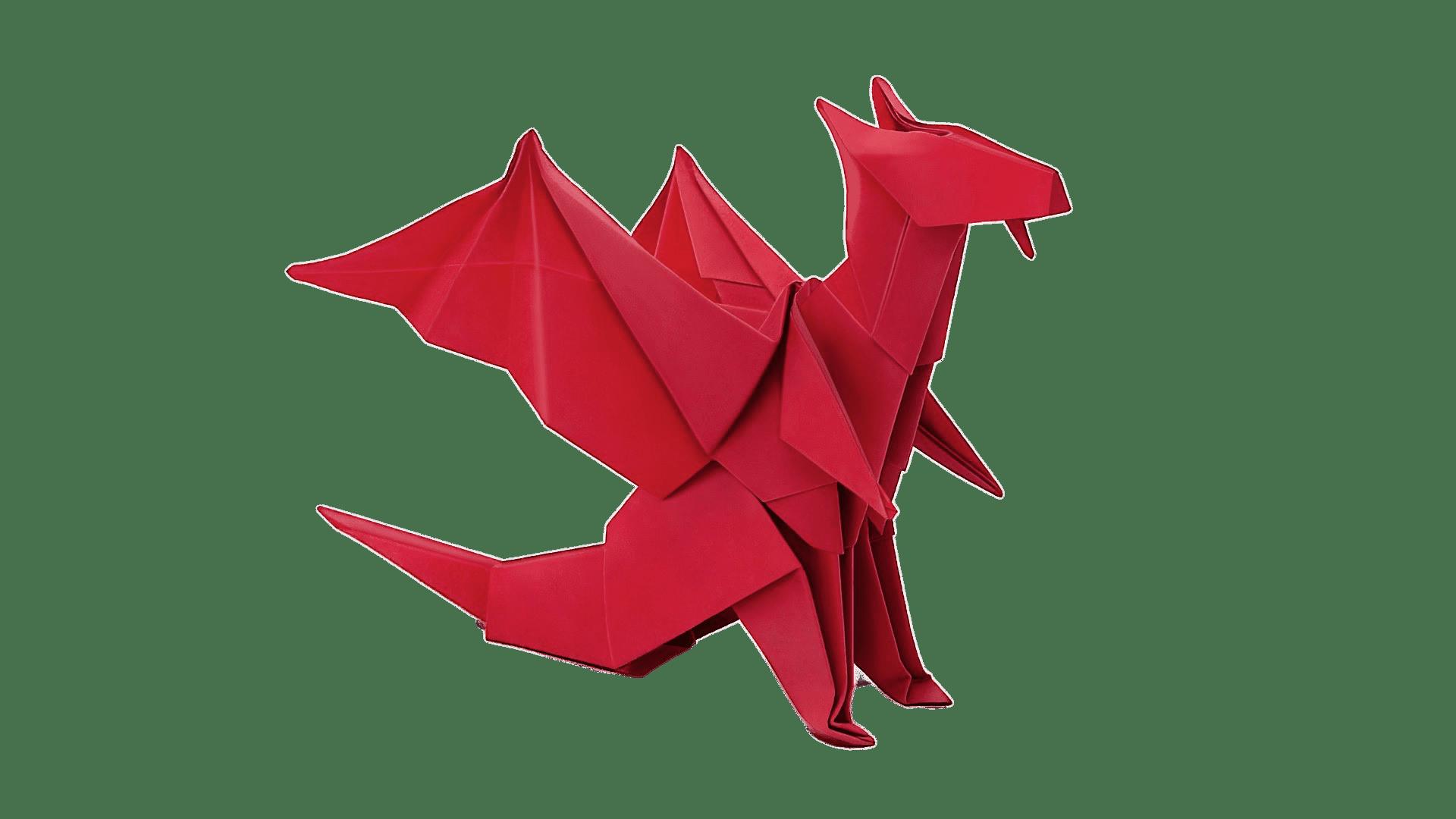 Origami Dragon transparent PNG.