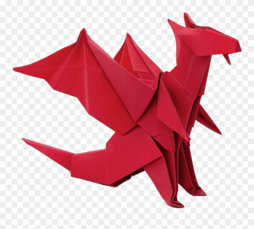 Download Origami Dragon Transparent Png.