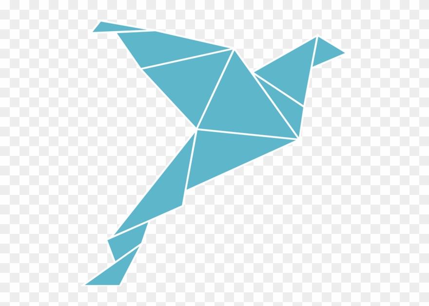 Transparent Phoenix Origami Clip Art Black And White.