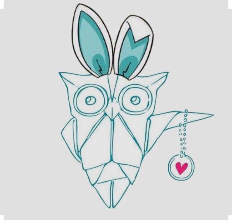origamiowl #olive #bunny.