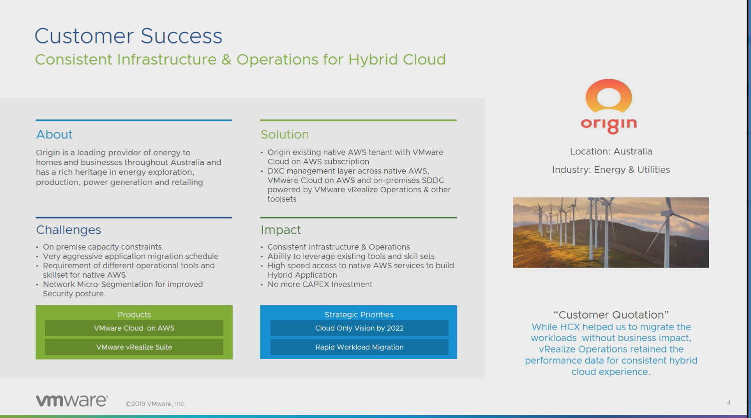 Origin Energy pilots VMware Cloud on AWS.