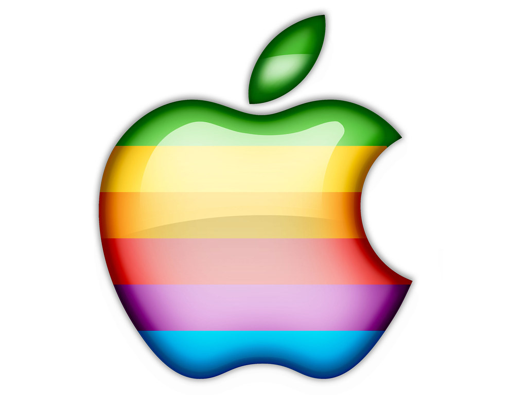 Original Apple Logo Plasticized.