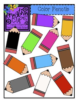 Free} Color Pencils Clipart by Krista Wallden.