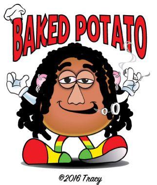 "Original Color Vector Design Of a Stoned ""Baked Potato""."