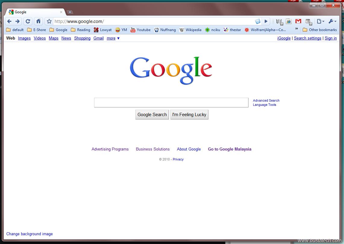 Stealing Google Logo.