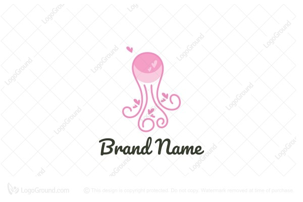 Exclusive Logo 184805, Jellyfish Logo.