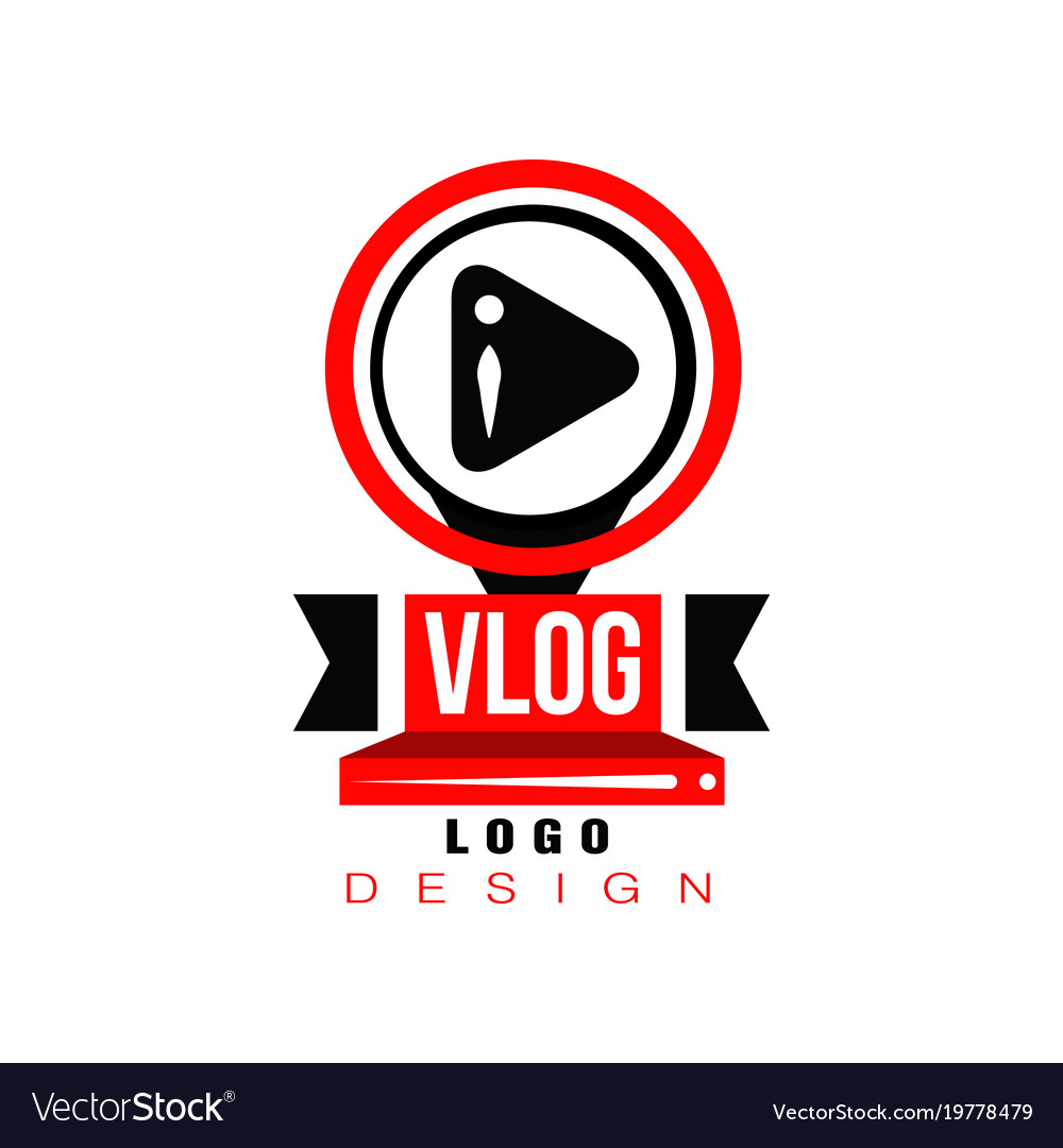 Trendy logo with play button in circles original.