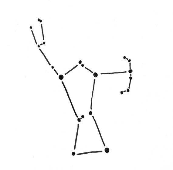 Orion Constellation Temporary Tattoo (set of 2).