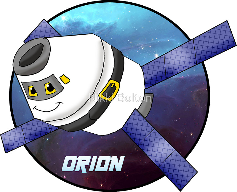 "Orion spacecraft"" Stickers by Nikki Bolton."