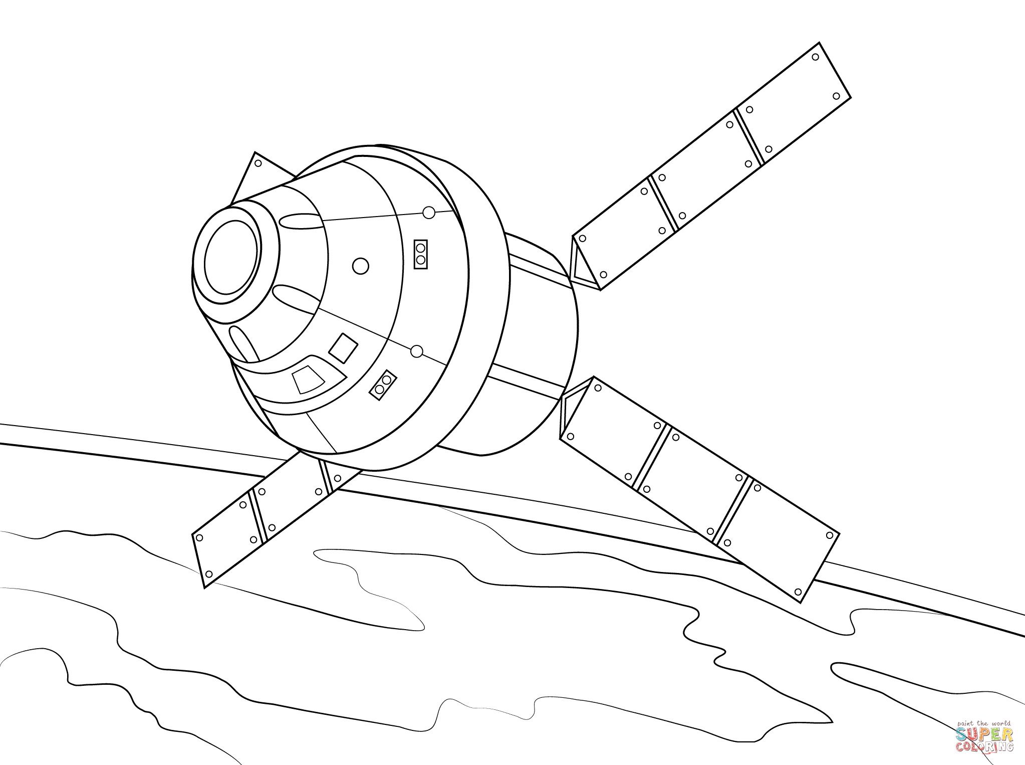 Orion Spacecraft with Atv Based Service Module coloring page.