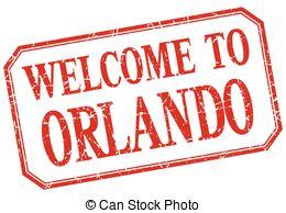 Clip Art Vector of Welcome To Orlando.