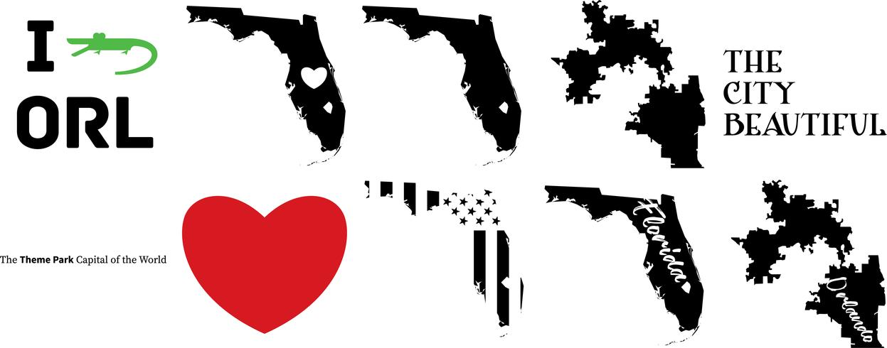 orlando florida US map.