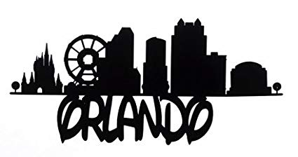 Amazon.com: ORLANDO FLORIDA SKYLINE VINYL STICKER: Automotive.