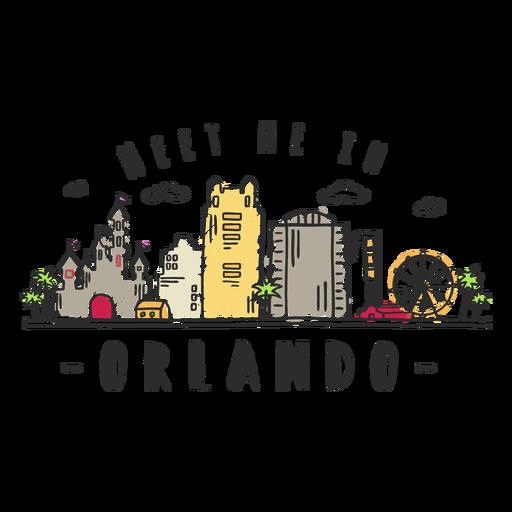 Orlando skyline sticker.