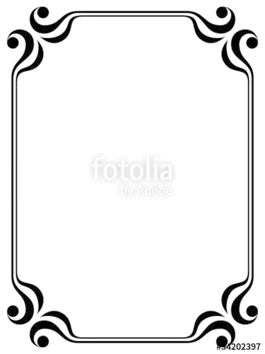Vector simple calligraph ornamental decorative frame pattern.