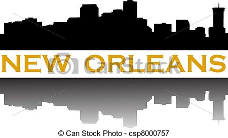 New orleans skyline clipart.