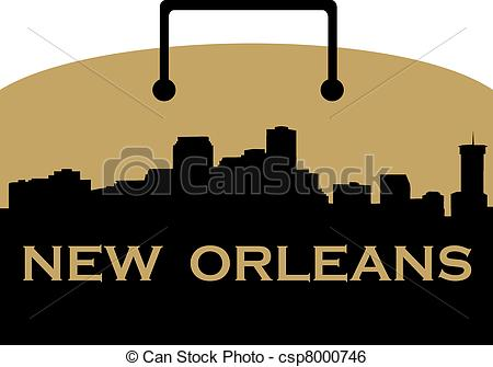 Vector Clipart of New Orleans music.
