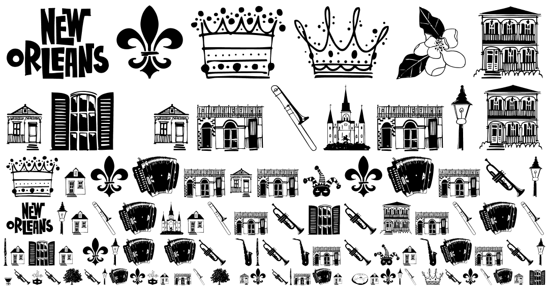 New orleans food clipart.