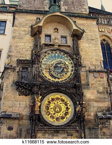 Stock Image of Orloj clock.