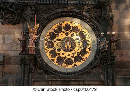 Stock Photographs of Prague Astronomical Clock 5.