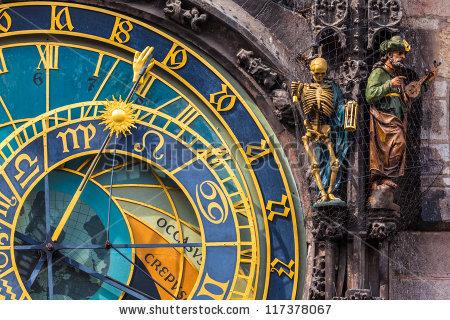 Detail Prague Astronomical Clock Orloj Old Stock Photo 117378067.