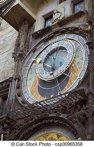 Stock Images of Prague Astronomical Clock Orloj.