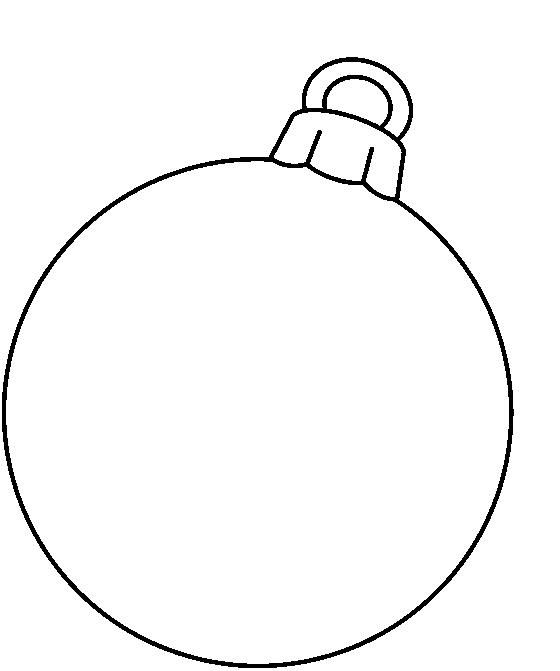 CHRISTMAS, BLANK ORNAMENT CLIP ART.