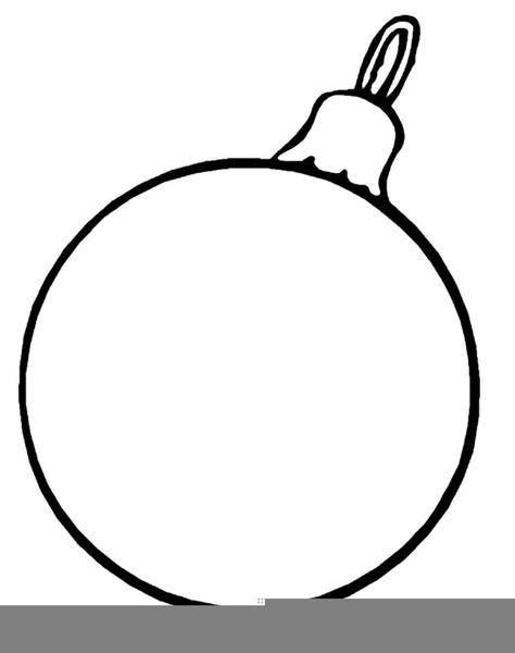 Christmas Ornament Black White Clipart.