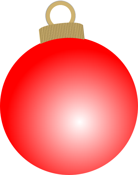 Red christmas ball ornament clip art at vector clip.
