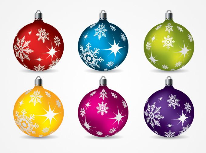 Christmas Balls Ornaments Vector Clip Art (Free).