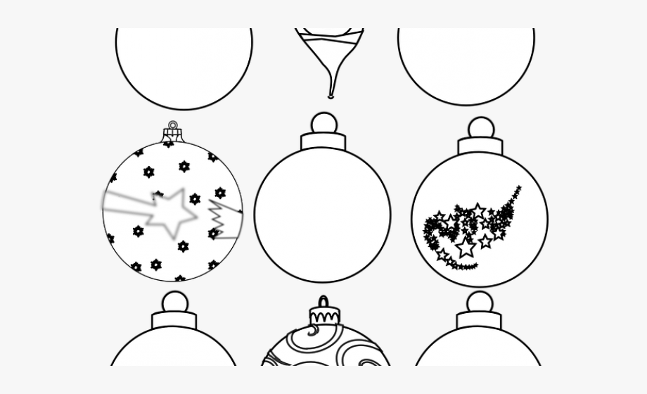 Christmas Ornaments Clipart Illustrator.