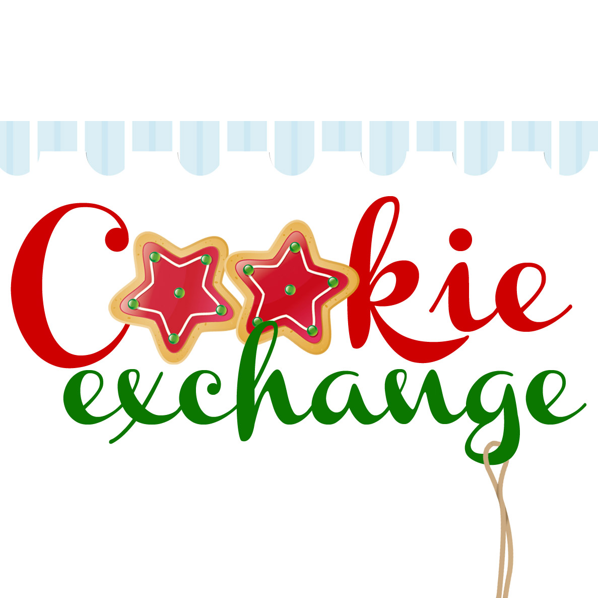 Christmas Cookie Exchange Clipart.