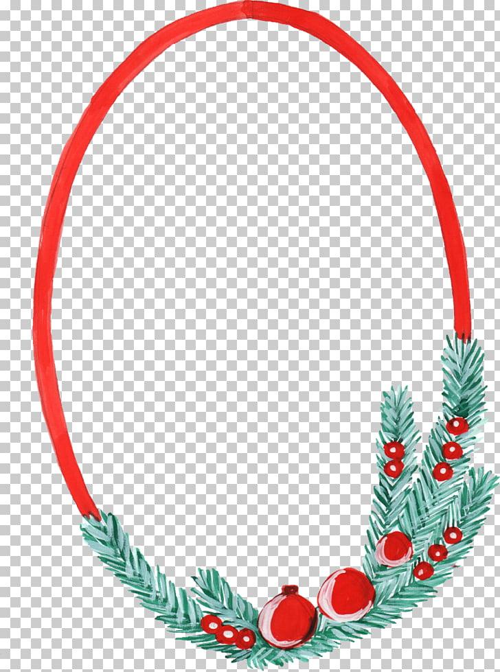Christmas ornament Frames Christmas decoration, watercolor.