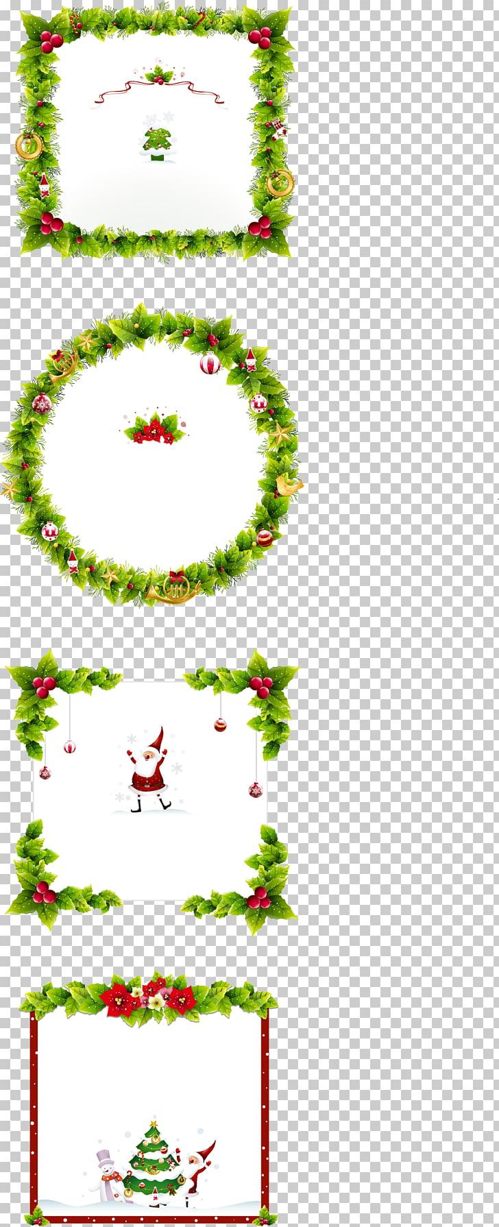 Christmas ornament frame , Christmas Borders free PNG.
