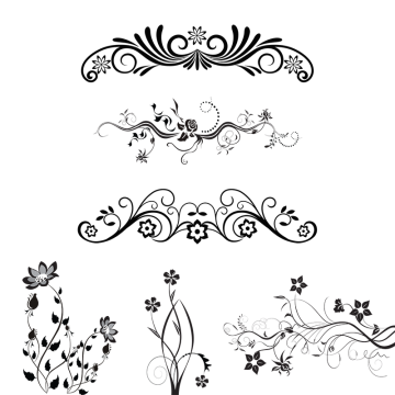 Floral Ornaments PNG Images.