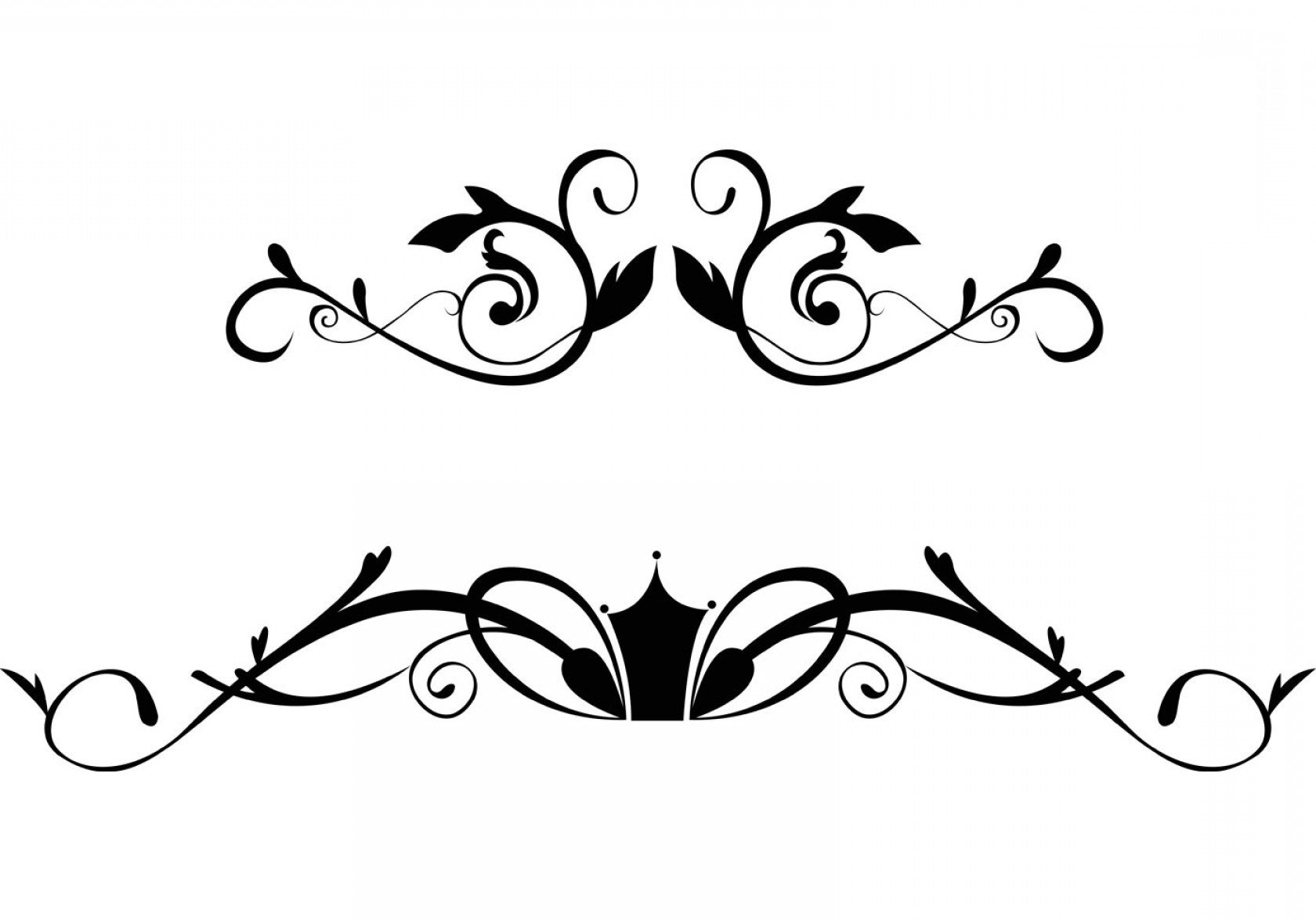 Free Floral Ornamental Border Vectors.