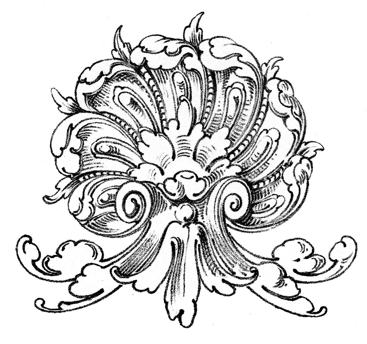 Vintage Ornamental Clip Art.
