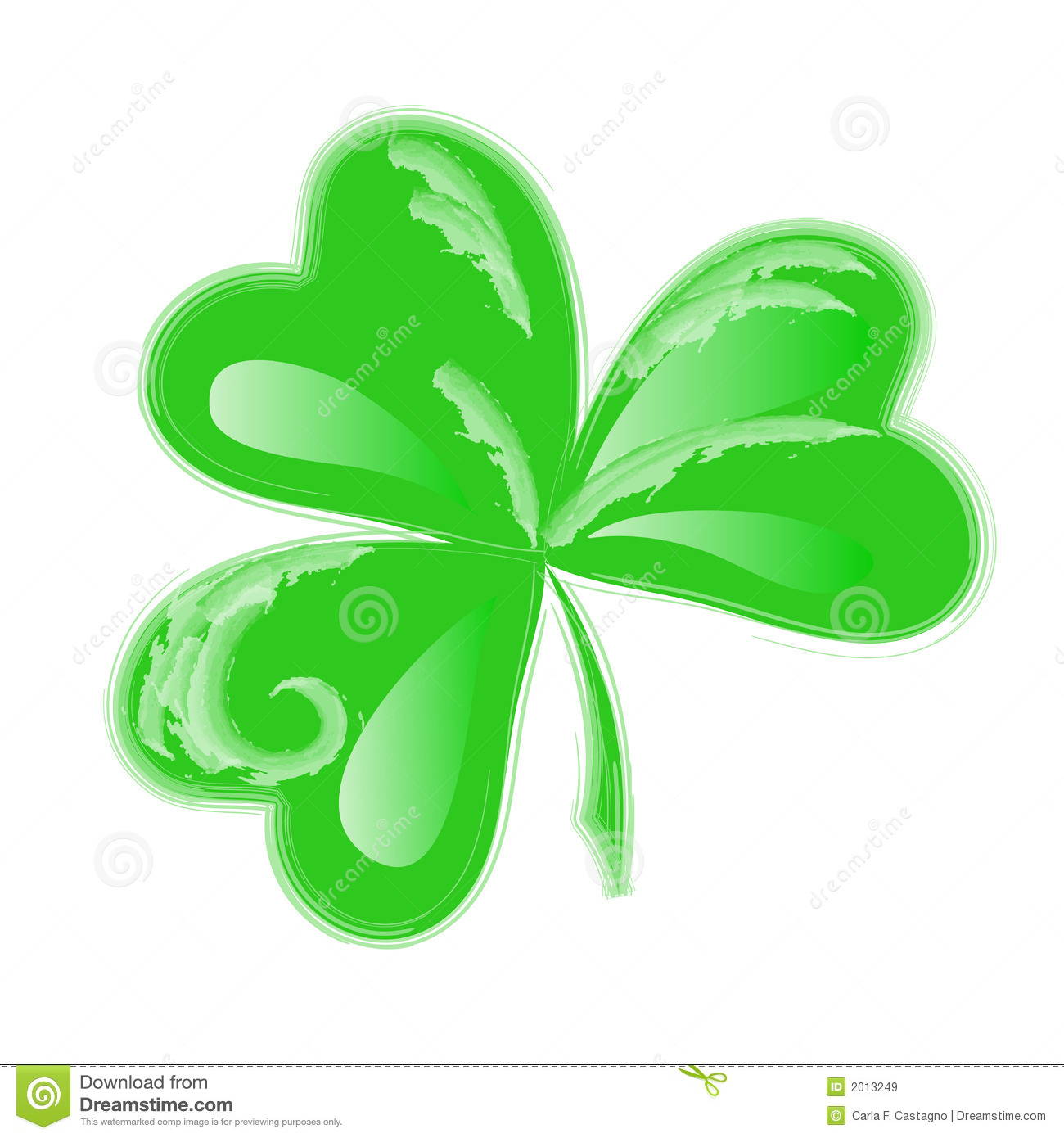 3 Leaf Clover Clipart.