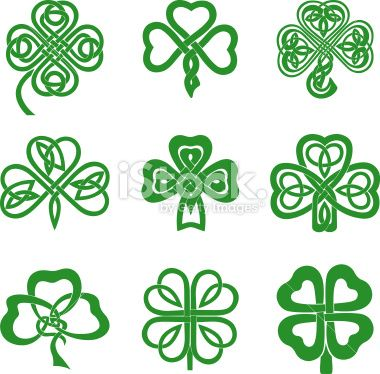 four leaf clover drawings.