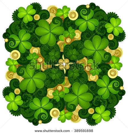 Card Decorative Shamrock Vector Stock Photos, Royalty.