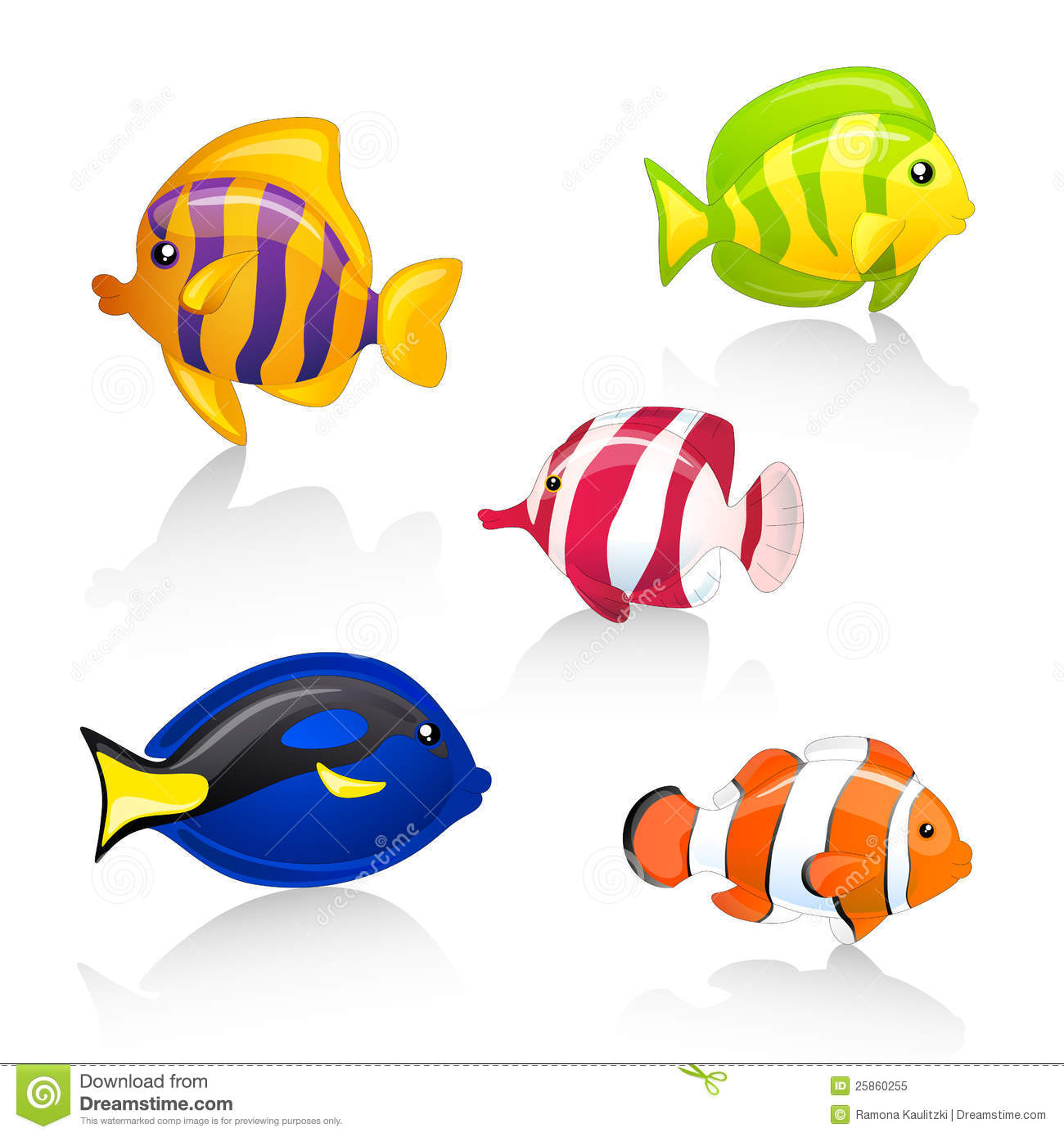 Ornamental Fishes Royalty Free Stock Photo.