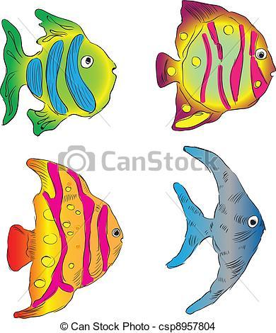 EPS Vector of Aquarium fish.