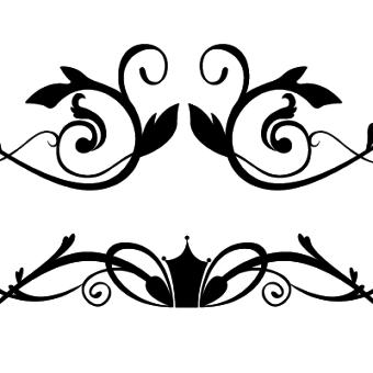 Free Flower Ornaments Vector Illustration.