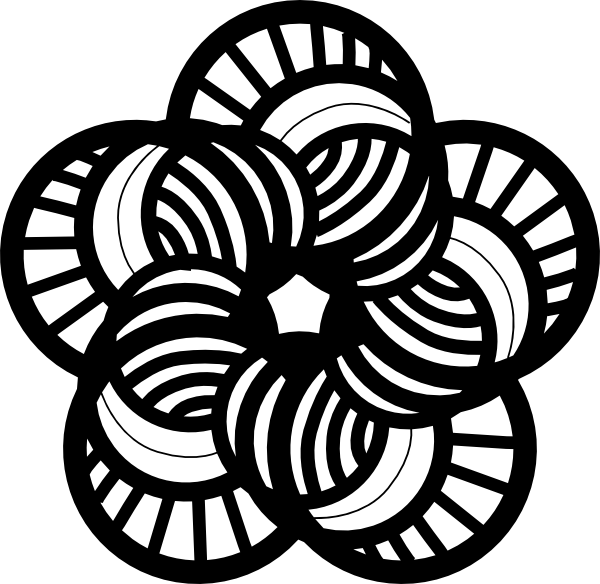 Black And White Ornamental Flower Clip Art at Clker.com.
